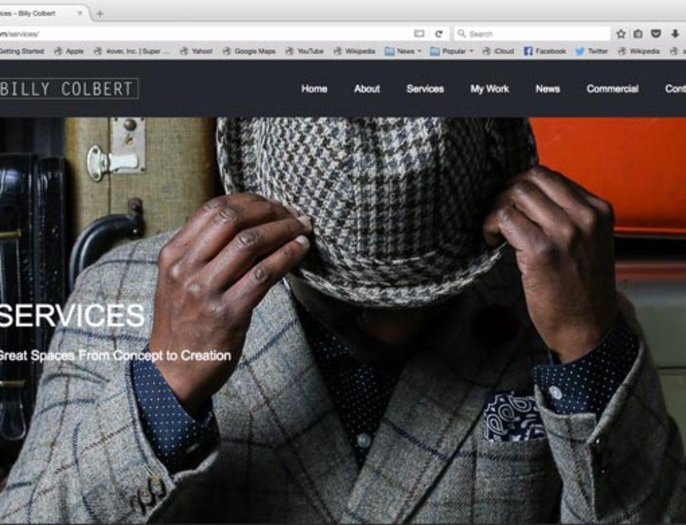 New Billy Colbert Website Almost Complete